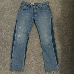NWT Levis 501 Cropped Jeans